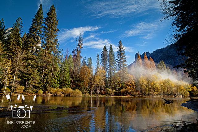 Purchase Misty Merced In Autumn Yosemite Naitonal Park @ InkTorrents.com by Soma