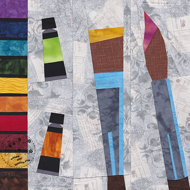 Make Art Artist Paintbox Palette quilt pattern by Shop Whims And Fancies Soma Acharya