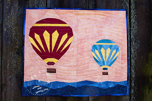 Hot Air Balloons wall hanging quilt pattern Shop Whims And Fancies Soma Acharya
