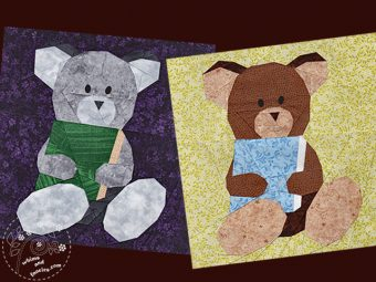 Teddy Bear quilt pattern book reading Shop Whims And Fancies Soma Acharya