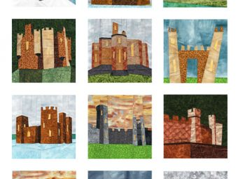 12 Castles quilt pattern Shop Whims And Fancies Soma Acharya
