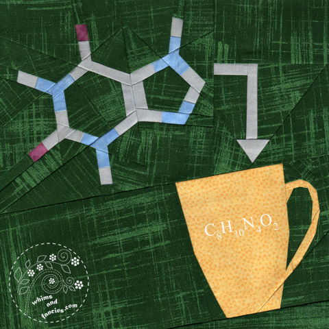 Coffee Chemistry Caffeine quilt pattern Shop Whims And Fancies Soma Acharya