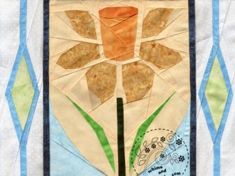 Welsh Daffodil Wales quilt pattern Shop Whims And Fancies Soma Acharya
