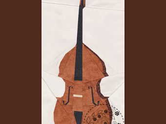 Musical Instrument Double Bass quilt pattern Shop Whims And Fancies Soma Acharya