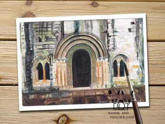 Inktorrents Shop Greeting Card Soma Acharya Weathered Scottish Abbey Ruin Historic print Edinburgh Scotland print England print Whims And Fancies