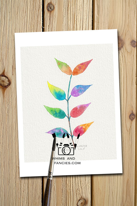 Spring Fairy Leaves children's fantasy story art print InkTorrents Graphics Soma Acharya