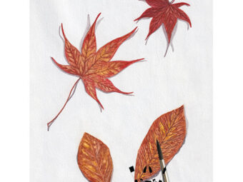 Falling Autumn Leaves art print InkTorrents Graphics Soma Acharya