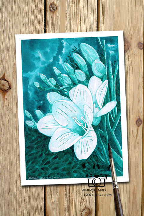 Flowers Of The Deep Sea art Nature lover gift Under water nautical Ocean print Floral print Plant Fantasy print Sci-fi print Book lover gift
