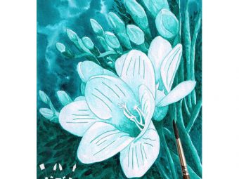 Flowers Of The Deep nautical fantasy art print InkTorrents Graphics Soma Acharya