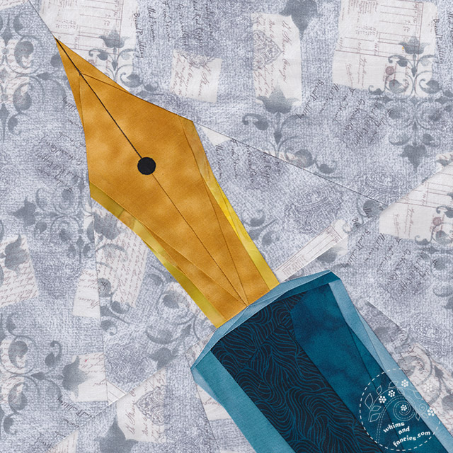 Make Art Fountain Pen quilt pattern by Shop Whims And Fancies Soma Acharya