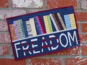 Freadom Bookshelf Library Read quilt pattern Shop Whims And Fancies Soma Acharya