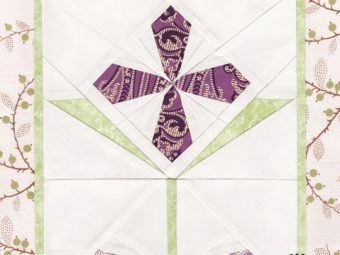 Garnet Primrose flower quilt pattern Shop Whims And Fancies Soma Acharya