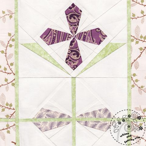 Garnet Primrose flower quilt pattern Shop Whims And Fancies Soma Acharya