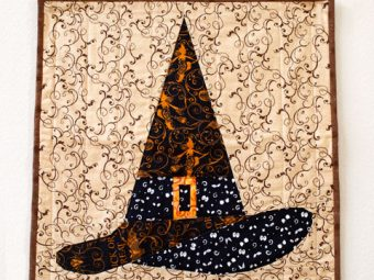 Halloween Witch Hat quilt pattern Shop Whims And Fancies Soma Acharya