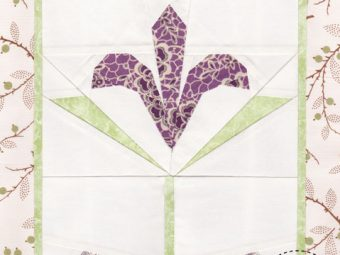 Kyanite Iris flower quilt pattern Shop Whims And Fancies Soma Acharya