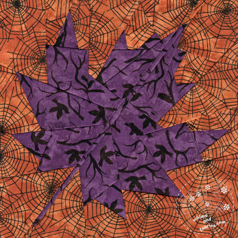 Fall Maple Leaf quilt pattern Shop Whims And Fancies Soma Acharya