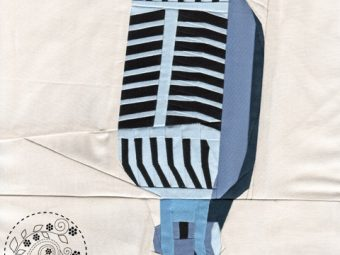 Musical Instrument Microphone quilt pattern Shop Whims And Fancies Soma Acharya