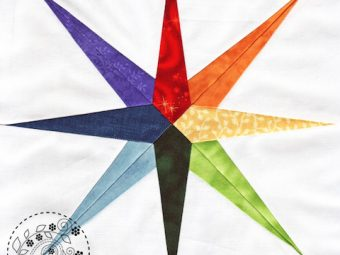 Rainbow Star quilt pattern Shop Whims And Fancies Soma Acharya