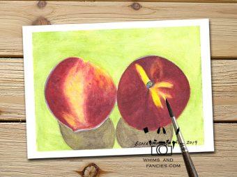 Summer Peaches art print InkTorrents Graphics Soma Acharya
