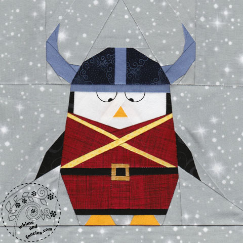 Viking Penguin Olaf quilt pattern Shop Whims And Fancies Soma Acharya