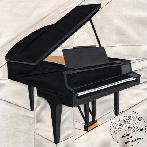 Musical Instrument Piano quilt pattern Shop Whims And Fancies Soma Acharya