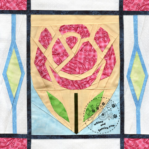 English Rose England quilt pattern Shop Whims And Fancies Soma Acharya