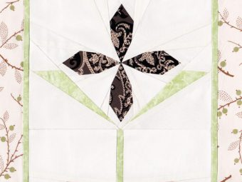 Selenite Clematis flower quilt pattern Shop Whims And Fancies Soma Acharya