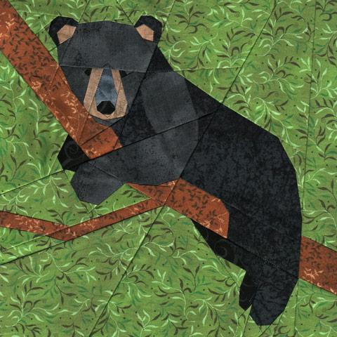 Bear Cub quilt pattern Shop Whims And Fancies Soma Acharya