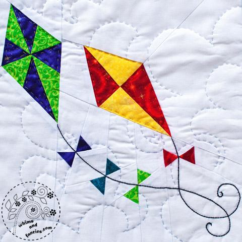 Spring Kites quilt pattern Shop Whims And Fancies Soma Acharya
