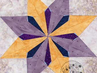 Sunburst Star quilt pattern Shop Whims And Fancies Soma Acharya