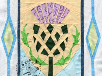 Scottish Thistle flower quilt pattern Shop Whims And Fancies Soma Acharya