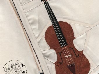 Musical Instrument Violin quilt pattern Shop Whims And Fancies Soma Acharya
