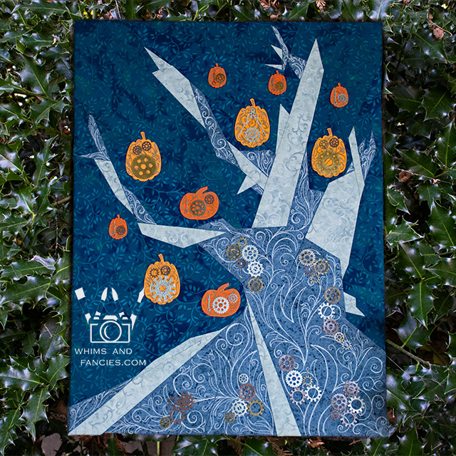 Halloween Witch Tree quilt pattern Shop Whims And Fancies Soma Acharya