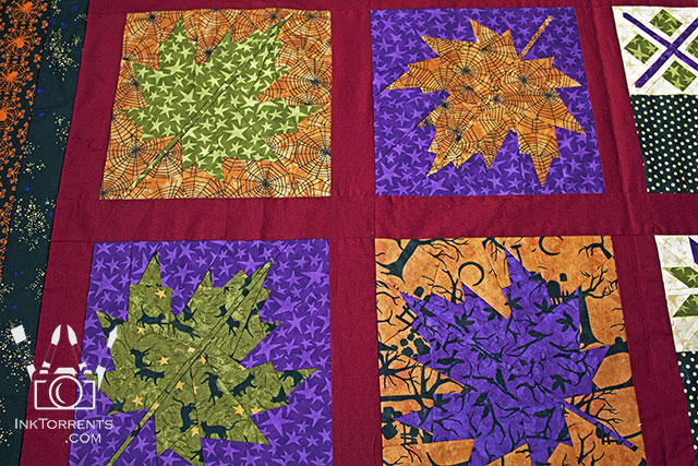 Autumn Halloween quilt by InkTorrents Graphics Soma Acharya - Whims And Fancies