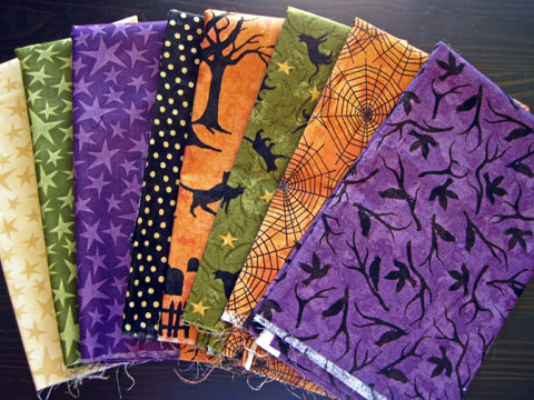 Black Cat Crossing Halloween Fabrics