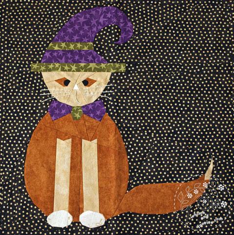 Cat Halloween Quilt Pattern