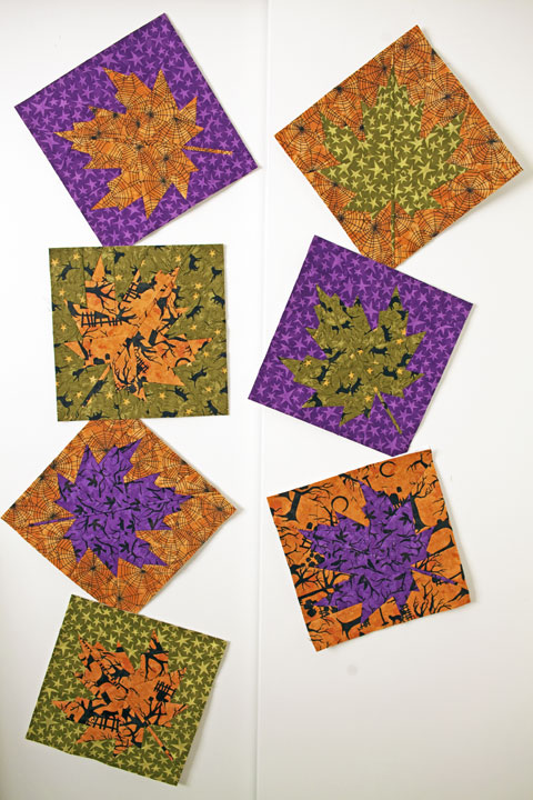 Fall Maple Leaves Quilt Pattern