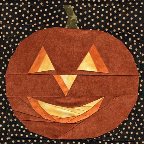 Halloween Jack-O-Lantern Quilt Pattern