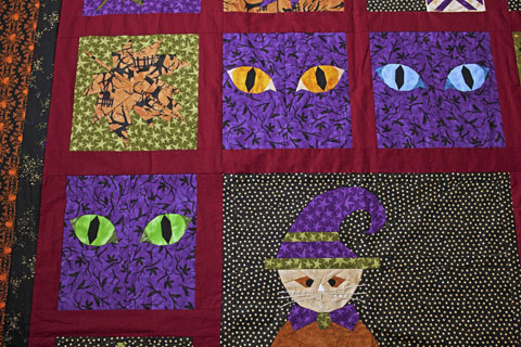 Cat Eyes Halloween Quilt Pattern