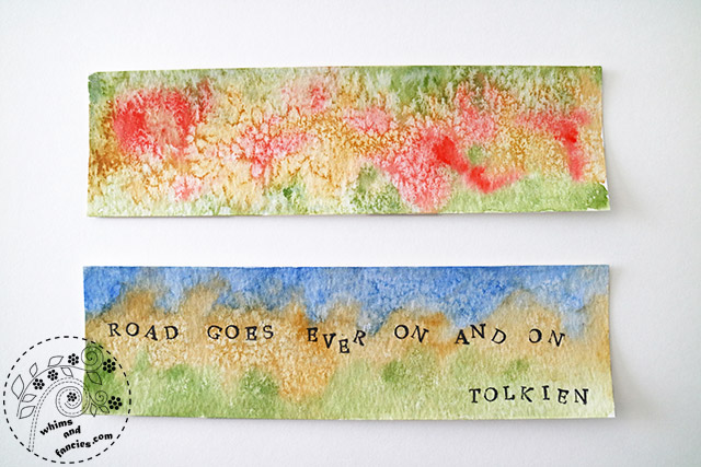Watercolour bookmarks with kids | Whims And Fancies