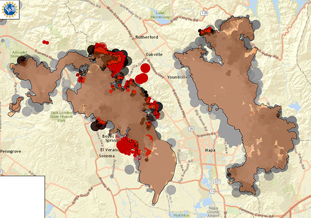 Napa California Wildfire Map | Whims And Fancies