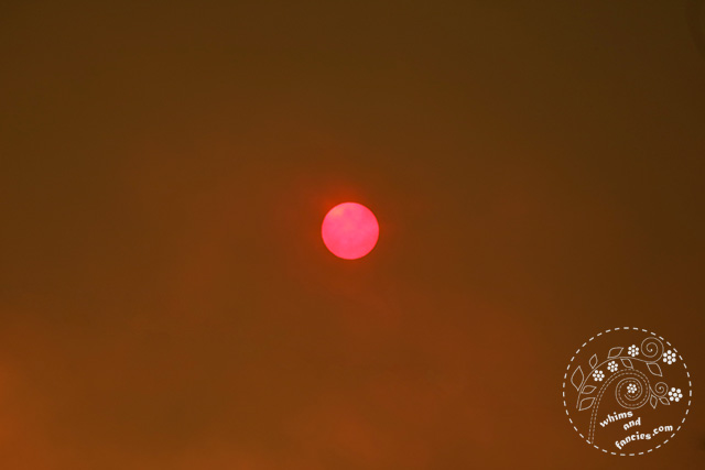 Northern California Wildfire Sun | Whims And Fancies
