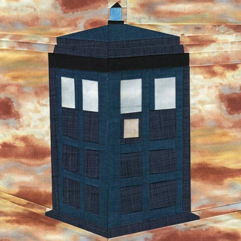 The TARDIS Paper Piecing Quilt Pattern
