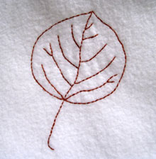 Quaken Aspen Leaves Embroidery Pattern