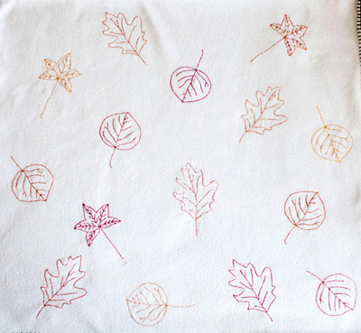 Fall Leaves Embroidery
