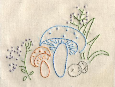 Oh Sweet Mushroom Embroidery