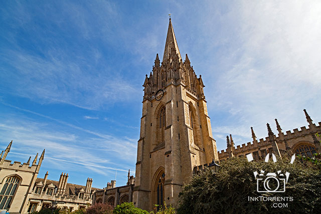 University Church St. Mary Tower and Spire Oxford England @ InkTorrents.com by Soma Acharya