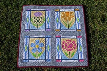 Scottish Thistle, Welsh Daffodil, Irish Flax and English Rose Quilt Patterns