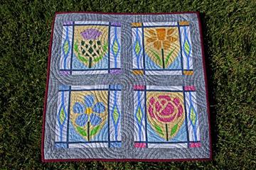 Scottish Thistle, Welsh Daffodil, Irish Flax and English Rose Quilt Patterns