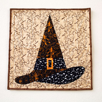 Halloween Quilt Pattern Witch Hat